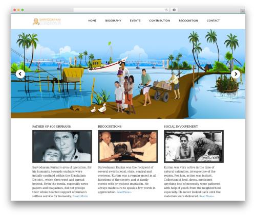 Customizable free WP theme - sarvodayamkurian.com