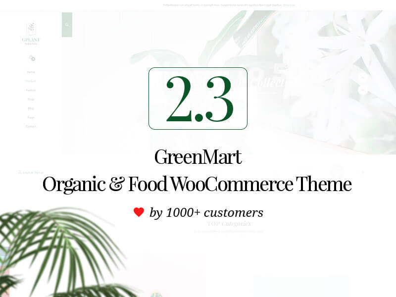 GreenMart WordPress store theme