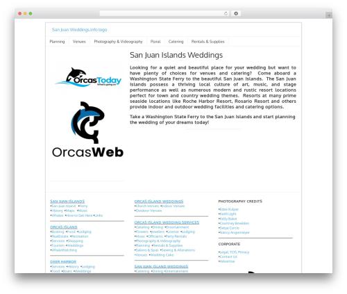 Orcas Online Ads theme WordPress - sanjuanweddings.info