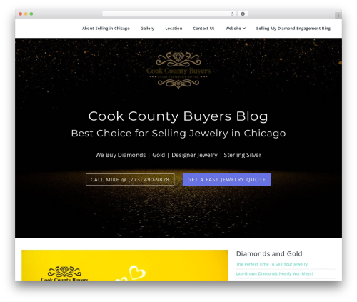 Parallel WordPress theme design - sellgoldchicago.com