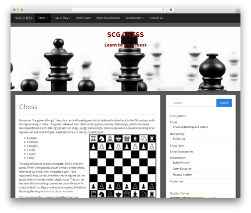 Simple Bootstrap theme WordPress free - scgchess.org