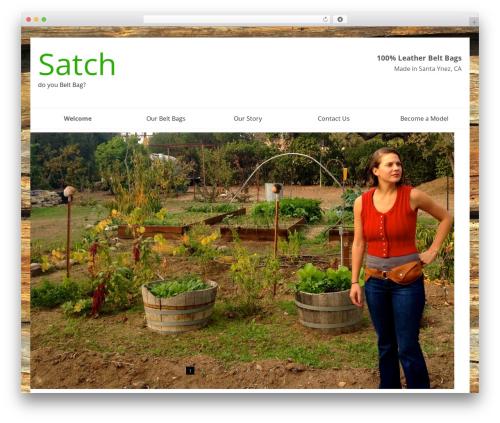 SmartShop WordPress shopping theme - satchbag.com