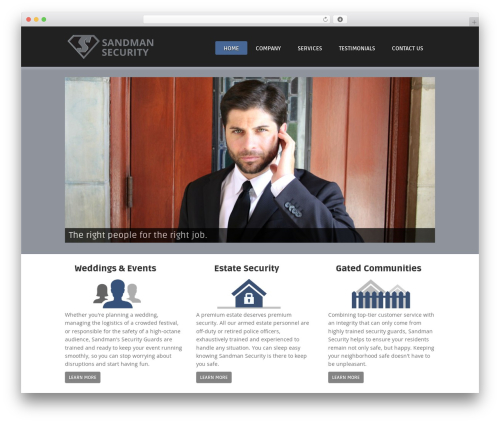 Theme theme WordPress - sandmansecurity.com