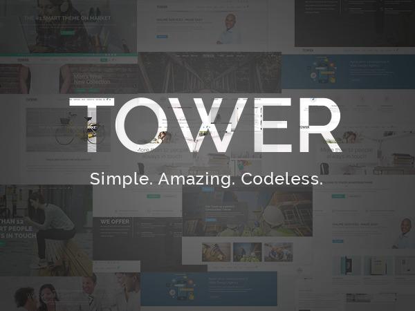 Tower2 WordPress portfolio template