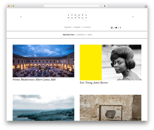 Divi WordPress theme - sandramaunac.com