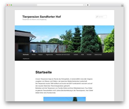Twenty Eleven WordPress page template - sandforter-hof.de