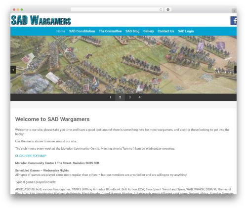 Xenon theme WordPress - sadwargamers.com