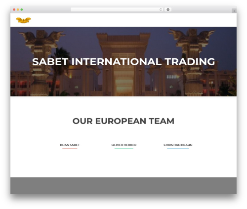 Zerif Lite WordPress template - sabetinternationaltrading.com