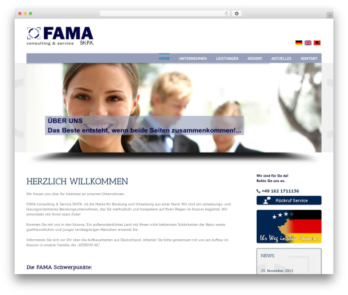Avada template WordPress - fama-consulting.de