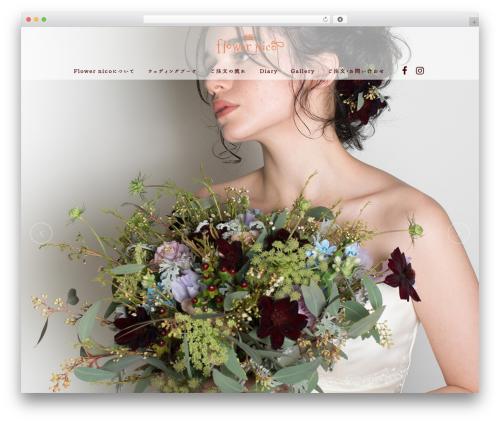 Bridge WordPress theme design - flowernico.net