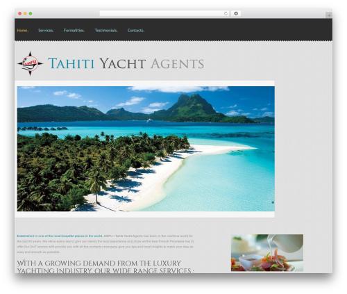 cherry premium WordPress theme - tahiti-yacht-agents.com