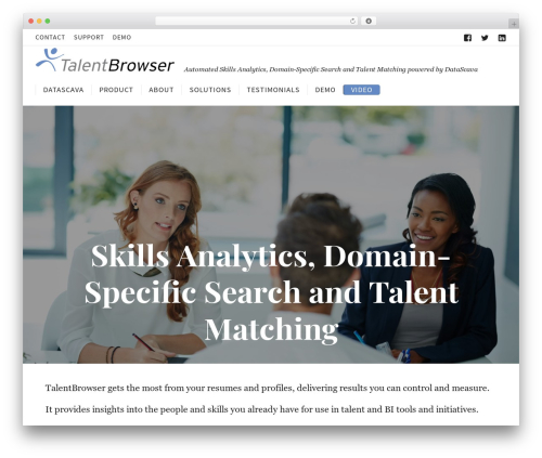 Corporate best WordPress theme - talentbrowser.com
