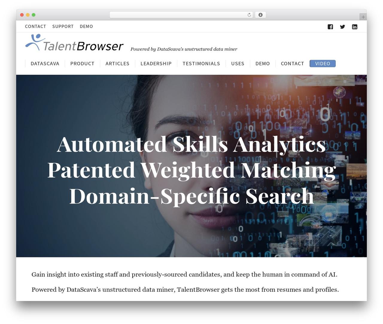 Corporate best WordPress theme - talentbrowser.com