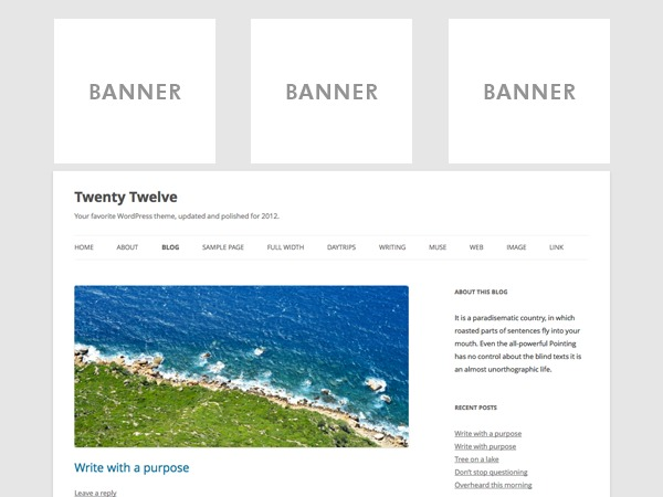 Default with Banners theme WordPress
