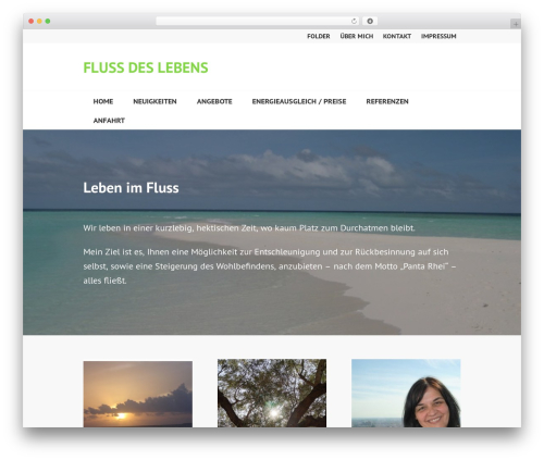 Edin WordPress template - flowoflife.at