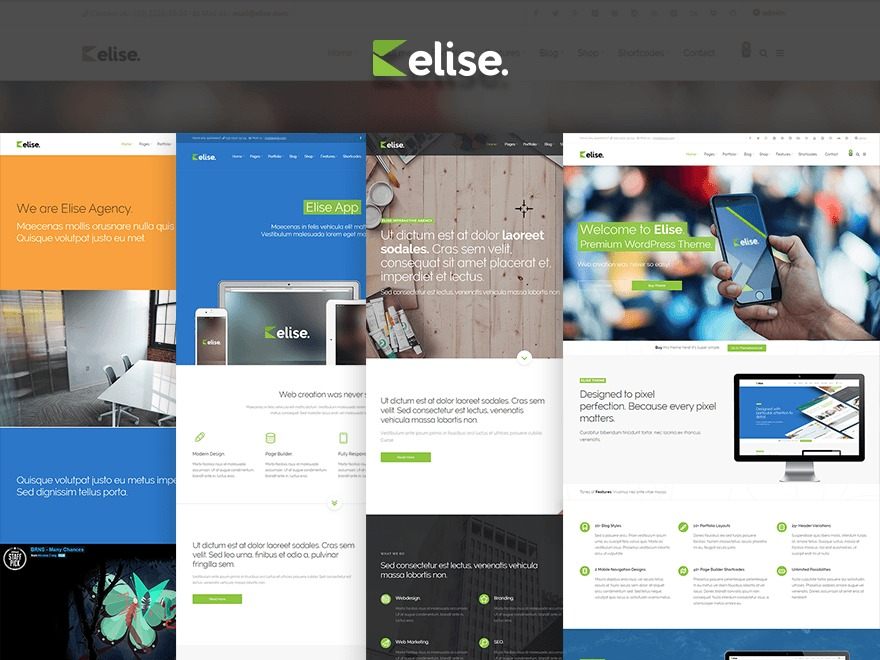Elise Child WP template