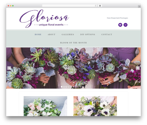 Faithful Theme template WordPress - flowersbygloriosa.com