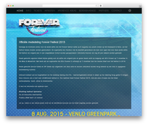 Fest WordPress theme - forever-festival.eu