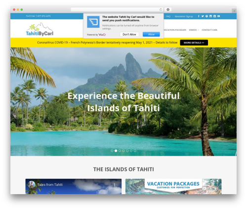 Flatsome WordPress theme design - tahitibycarl.com