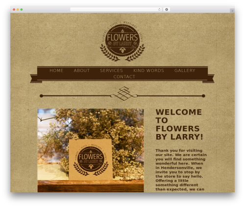 Flowers WordPress theme - flowersbylarry.com