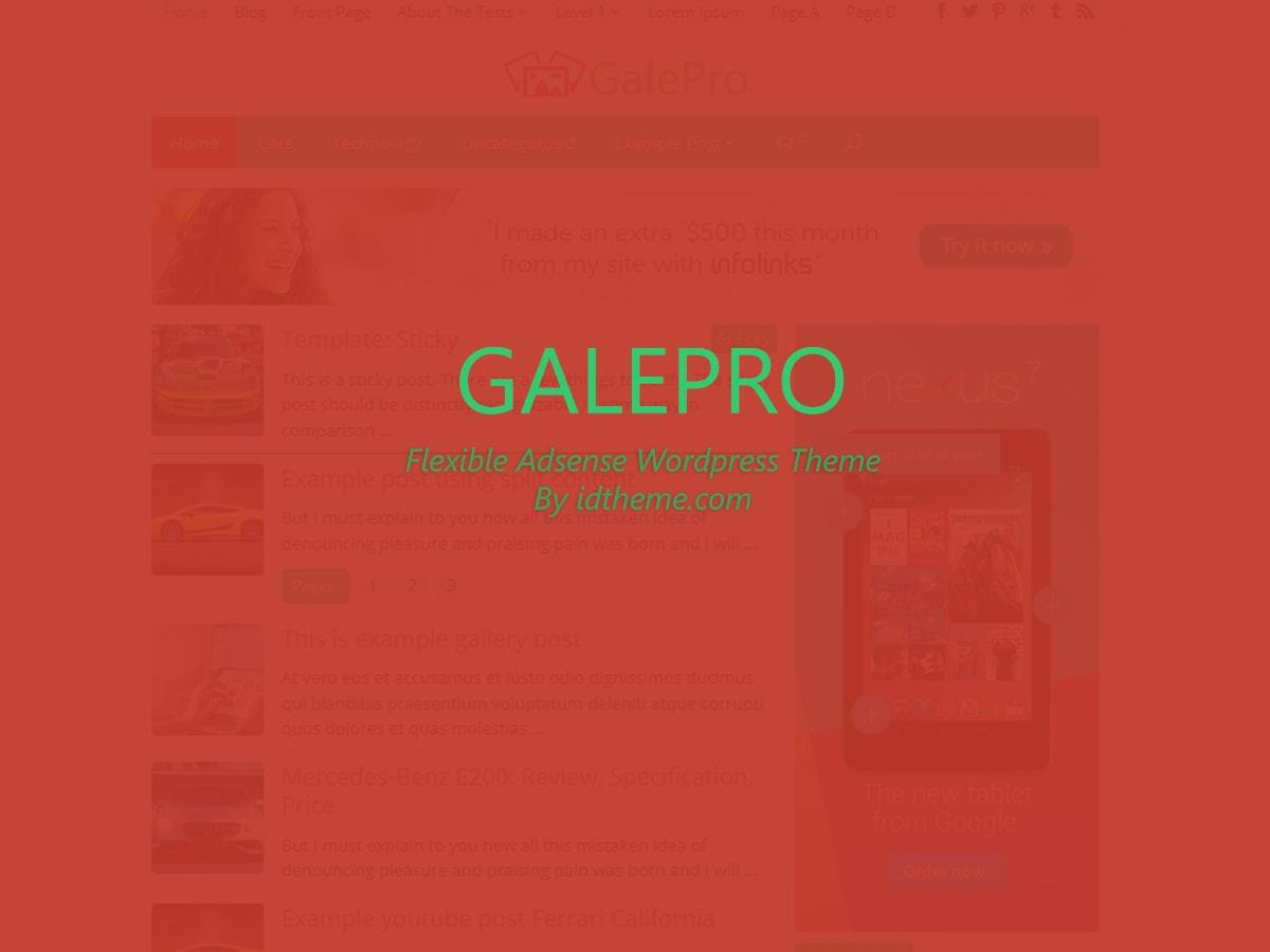 Galepro WordPress theme image