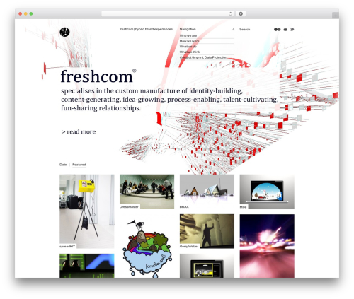 Grid-A-Licious(tm) top WordPress theme - freshcom.de