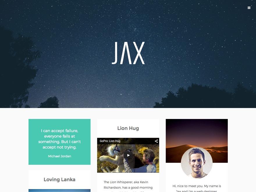 Jax WordPress theme