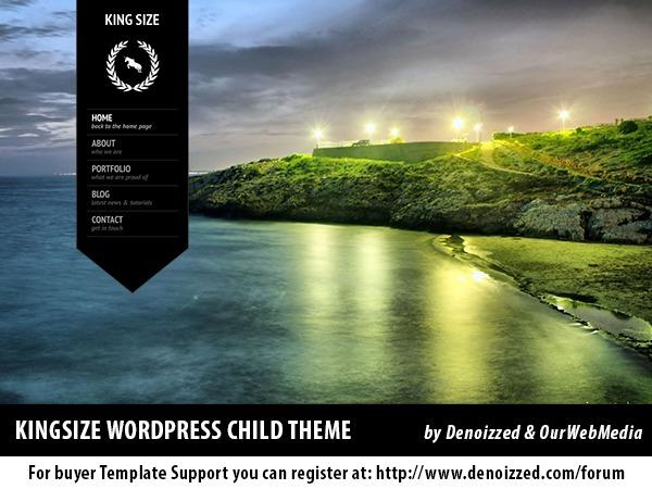 KingSize Child Theme WP theme