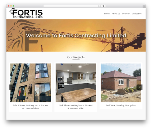 Pinnacle free WP theme - fortis-contracting.co.uk