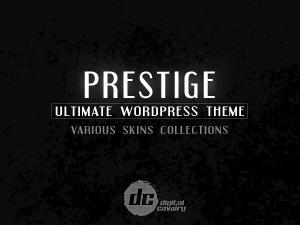 Prestige Ultimate Wordpress Theme WordPress portfolio template