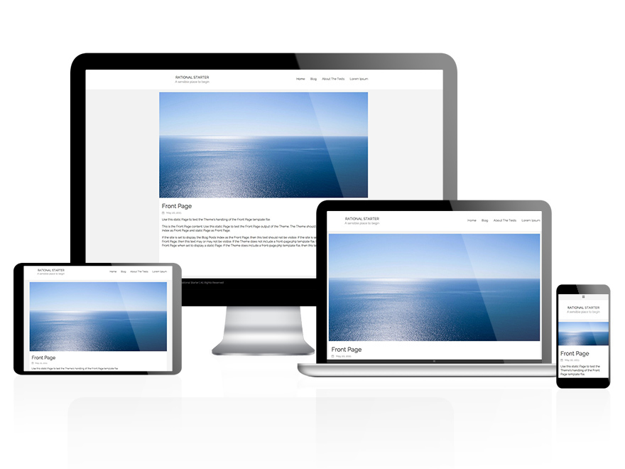 Rational Start free WordPress theme