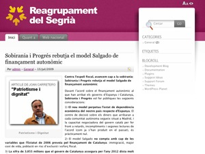 Reagrupament based on Fusion WordPress theme