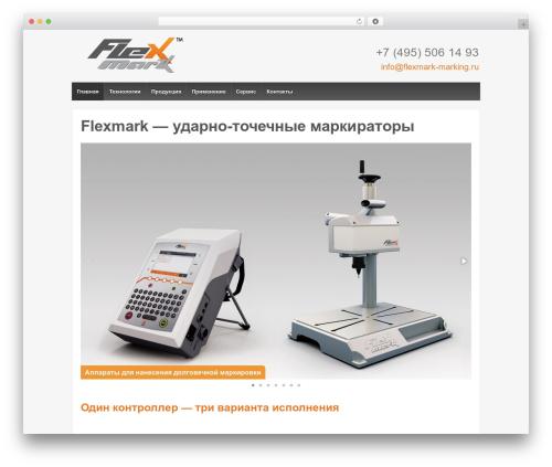Responsive template WordPress - flexmark-marking.ru