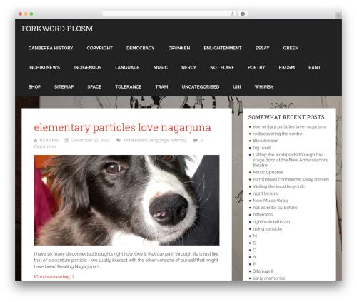 Schema Lite free WP theme - forkword.com/plog