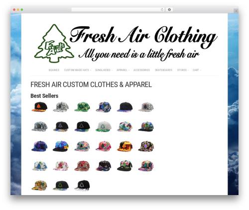 Shop WordPress ecommerce theme - freshairclothing.com