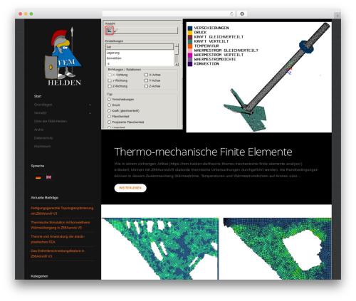 Showcase WordPress template - fem-helden.de