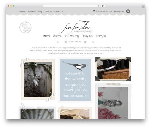 Template WordPress Jewellery - five4silver.co.uk