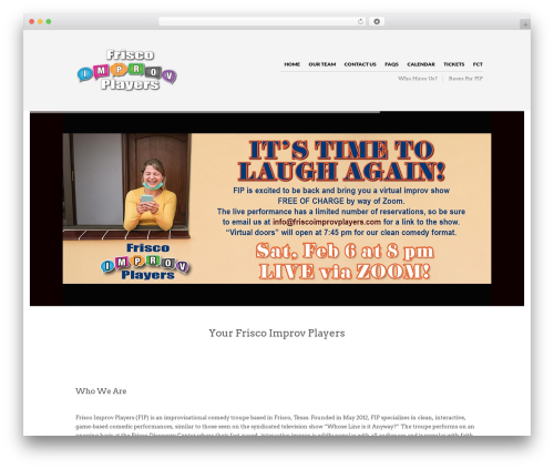 The Retailer WordPress website template - friscoimprovplayers.com