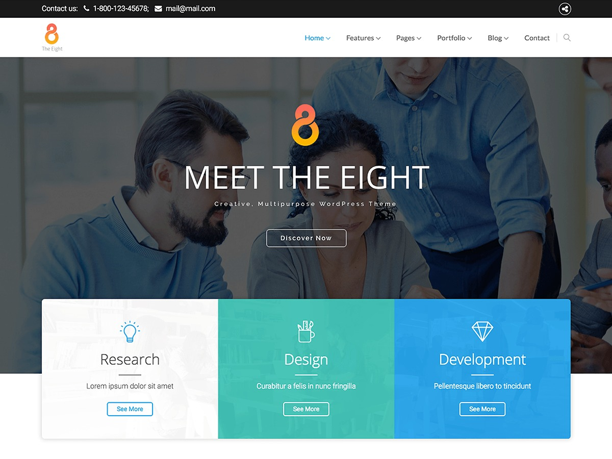 The8 WordPress template for business