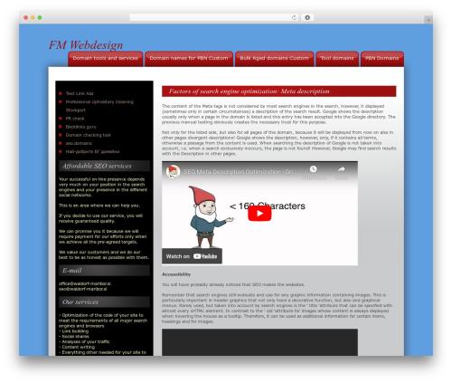 Theme WordPress CW Red - fm-webdesign.cz