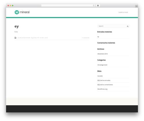 Theme WordPress Mineral - fundacionleon.mx