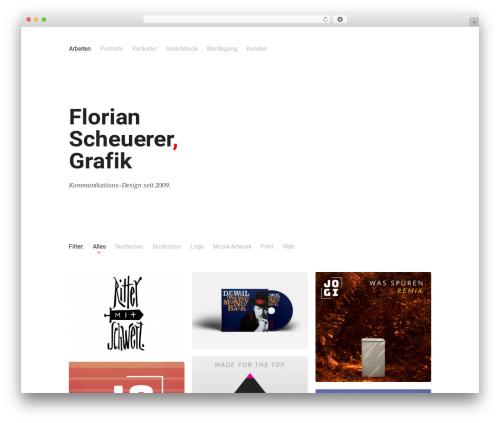 Theme WordPress Skills - florianscheuerer-grafik.de