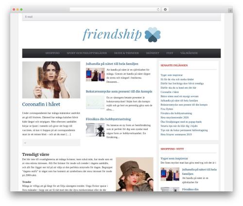 Tribune Theme WordPress blog theme - friendship.nu