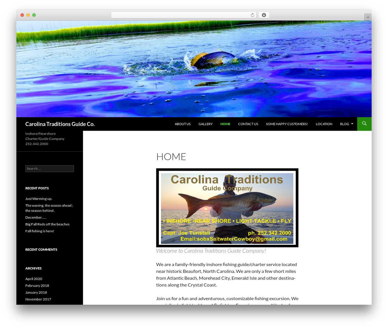 Twenty Fourteen best free WordPress theme - fishcarolinatraditions.com