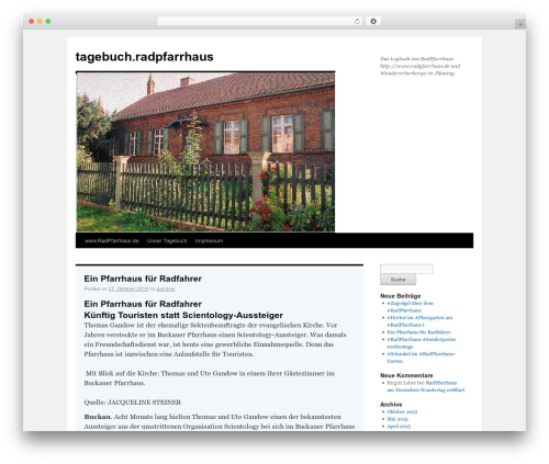 WordPress theme Twenty Ten - tagebuch.radpfarrhaus.de