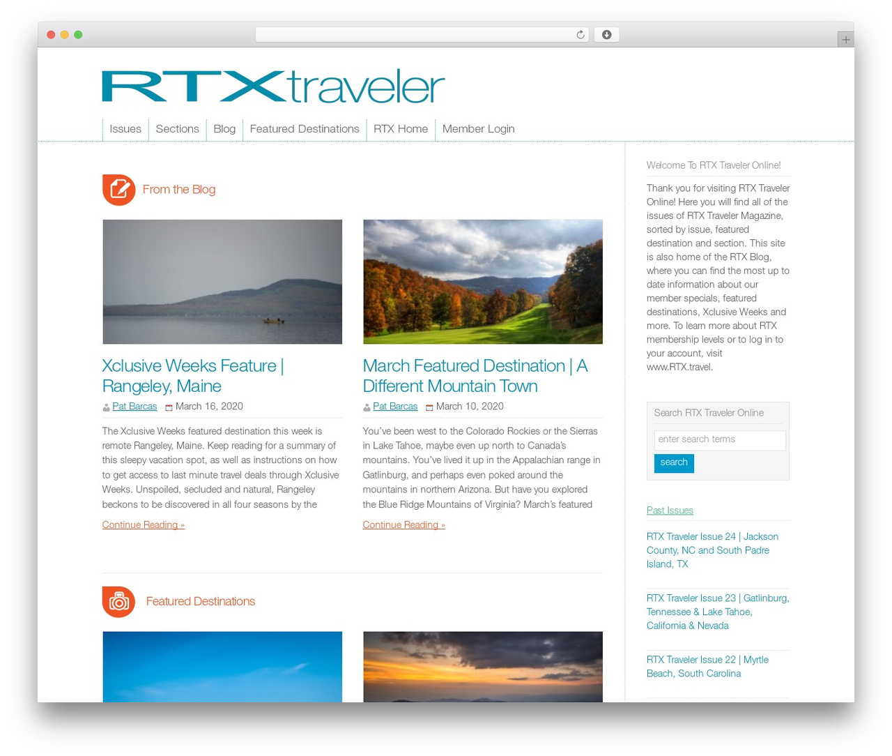 WP-Brilliance premium WordPress theme - traveler.rtx.travel