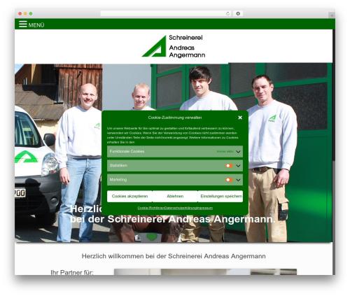 Betheme WordPress theme design - schreinerei-angermann.de