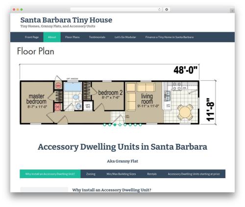 FlatOn theme WordPress free - santabarbaratinyhouse.com