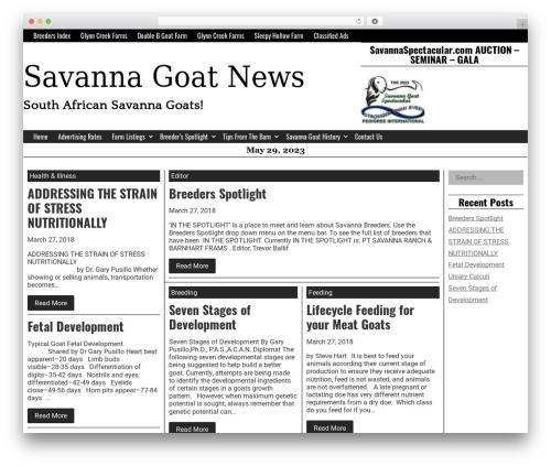 Giornalismo free WordPress theme - savannahgoatnews.com