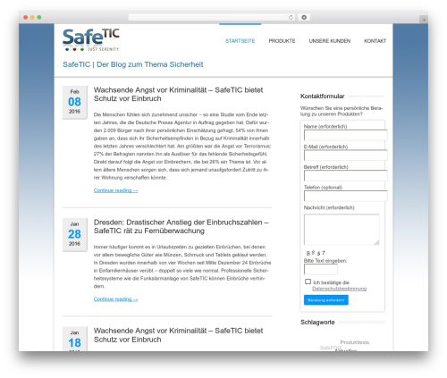 Twenty Twelve WordPress page template - safetic.org